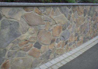Garten Naturstein Geopietra Wandtrennung KSOfenbau