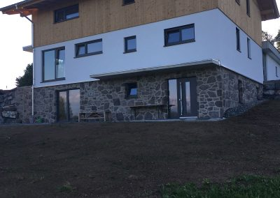 Geopietra Natursteinfassade Allgäu ksofenbau