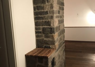 Geopietra Kamin im Holzhaus Allgäu