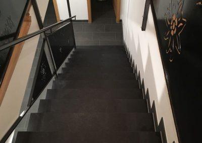 Fliesenverlegung Treppe Allgäu KS-Ofenbau
